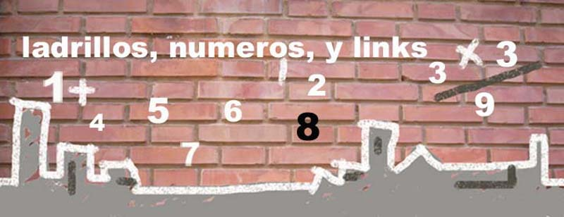 Ladrillos, numeros y links
