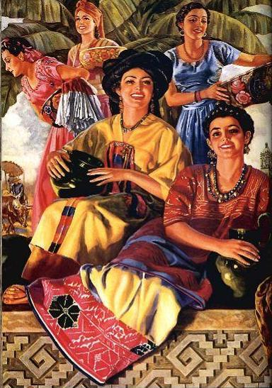 Mexican Calendar Girl Art : Calendar girls on pinterest mexican art mexicans and