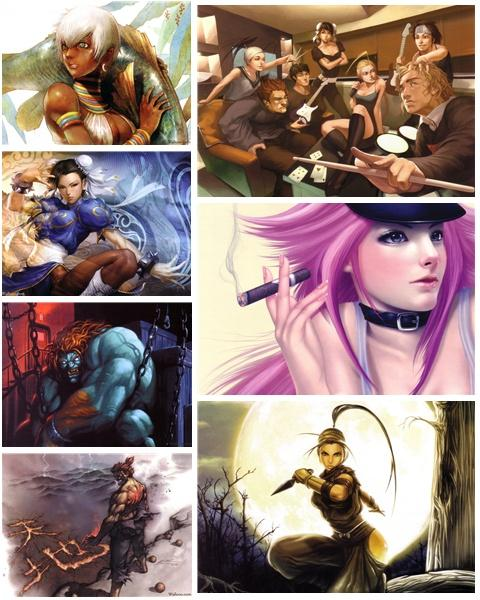 Art illustrations of Street Fighter Tribute Wallpapers Pack