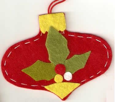 Adornos fieltro adornos para el rbol de navidad facil de - Adornos de navidad de fieltro para el arbol ...