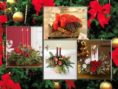 Adornos fieltro varias ideas para hacer un centro de mesa - Centros de navidad originales ...