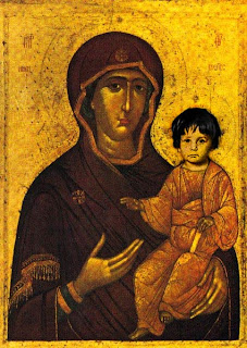 The image of the Hodegetria holds a privileged place in the iconography of the Mother of God. It has been and remains the preferred image of the Western world, even though its origin is specifically Eastern.