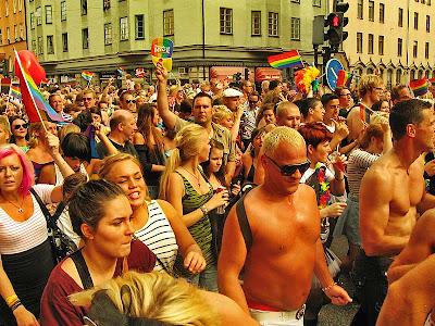 Det här är den kokta bilden från prideparaden.