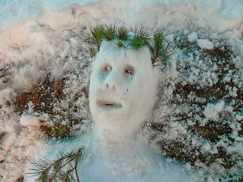Интересные идеи поделок из снега