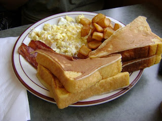 Lem's plate. Hurray for all-day breakfast.