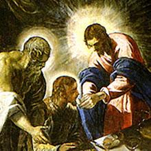 La última cena de Jesús.