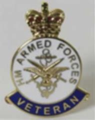 UK Armed Forces Veterans Lapel Badge