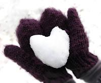 heart, snow, snow heart , kalp