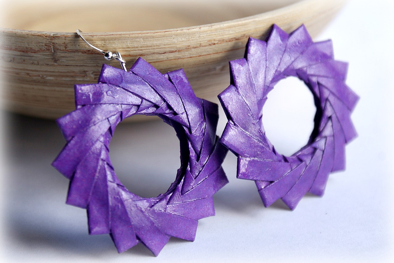 Preferenza Mille gru di carta: Origami earRings (Part two) AQ73