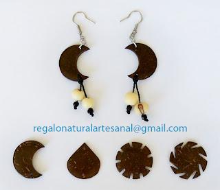 pendientes de coco semillas azaí
