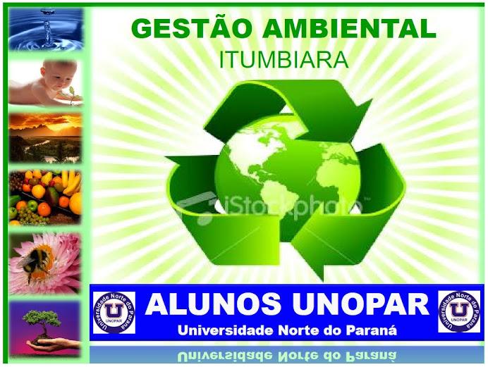 TURMA DE GESTÃO AMBIENTAL UNOPAR ITUMBIARA