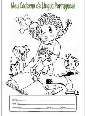 capa Capas de Caderno para crianças