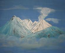 Montañas Nevadas sobre Nubes