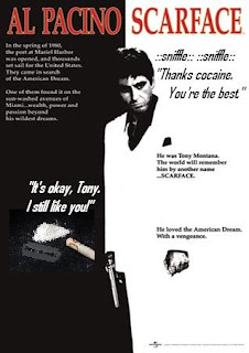 write a movie review on scarface Reviews say good night to the bad guy  that's al pacino, happily reciting one of his most famous lines at a 35th anniversary screening of scarface at the tribeca film festival.