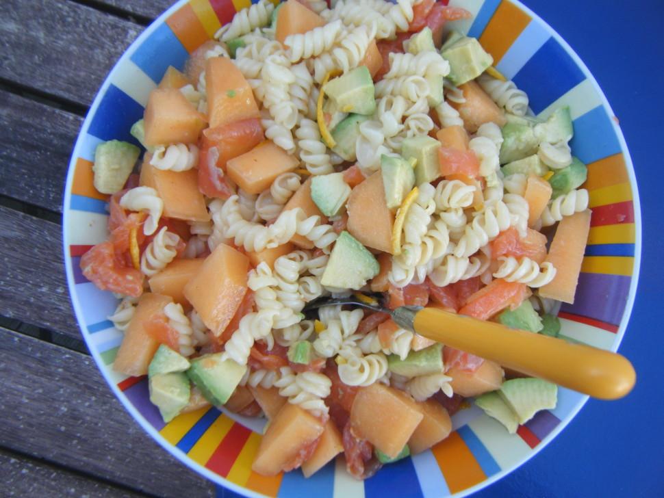 dans mon assiette salade de p 226 tes au melon