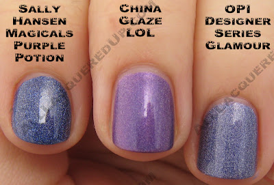lolcomp China Glaze OMG 2BKEWL Comparisons