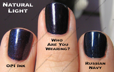 Russian Navy Has A Blue Green Base Like Glacier Bay Blues Subtle Shimmer On The Nail And Is Closest To An Actual Shade