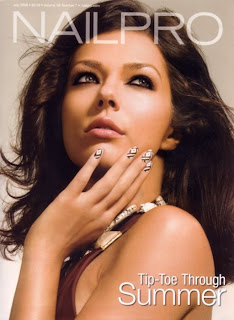 adrienne curry, america's next top model, nailpro, nail pro, magazine, july 2008