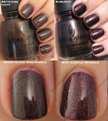 china glaze, fall 2008, nail polish, nail lacquer, nail color, rodeo diva, side saddle, side-saddle