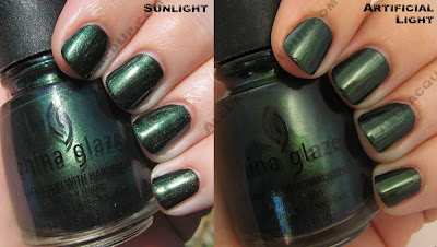 china glaze rodeo diva fall 2008 gussied up green China Glaze Rodeo Diva   Flannel Fixation