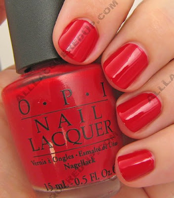 OPI, OPI France, OPI La Collection De France, La Collection De France, Fall 2008, Nail Polish, Nail Color, Nail Colour, Nail Lacquer, A Oui Bit Of Red