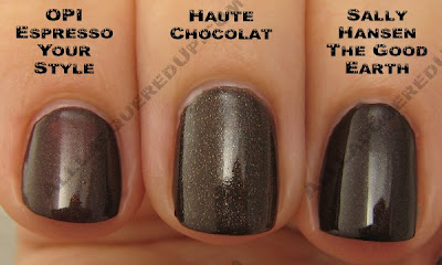 chanel, haute chocolat, holiday 2008, nail colour, nail color, nail polish, nail lacquer, hot chocolate, haute chocolate, opi, espresso your style, sally hansen, tracy reese, the good earth