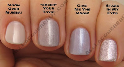 opi sheer your toys moon over mumbai give me the moon OPI Holiday In Toyland Darks & Neutrals