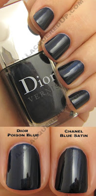 dior vernis poison blue chanel blue satin holiday 2008 Dior Holiday 2008   Black Diamonds