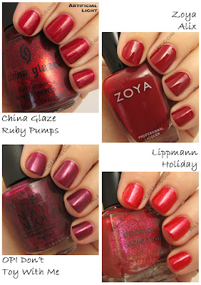 holiday 2008 red zoya opi lippmann china glaze ruby pumps Gift Guide   The 21 Hottest Holiday Polishes