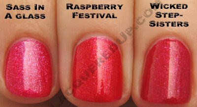 china glaze raspberry festival sass glass wicked stepsisters China Glaze Summer Days