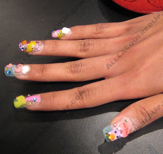 sakura nail spa 3d nail art A Little Something I Saw While Getting My Nails Did