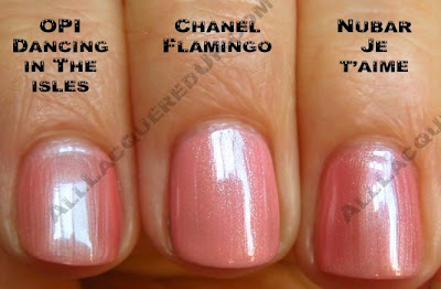 chanel flamingo opi nubar Swatch Request Saturday   Search for Chanel Dupes