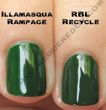 illamasqua rampage rescue beauty lounge recycle Swatch Request Sunday   Blues and Greens and Berries, Oh My!