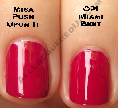 misa push upon it opi miami beet Swatch Request Sunday   Blues and Greens and Berries, Oh My!