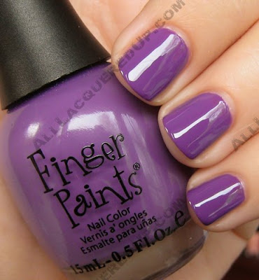 finger paints lavender highlight Kicking Off Finger Paints Week