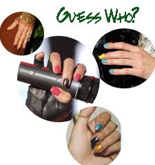 multi color nail trend celebrity Multi Colored Nails   Trendy or Tacky?