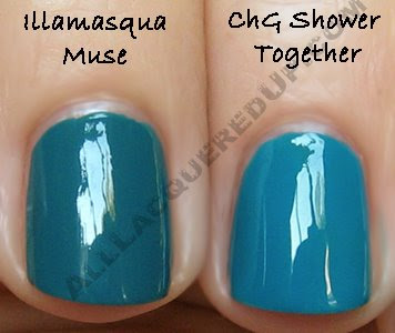 illamasqua muse china glaze shower together dm Illamasqua Sirens Collection   Muse Nail Varnish