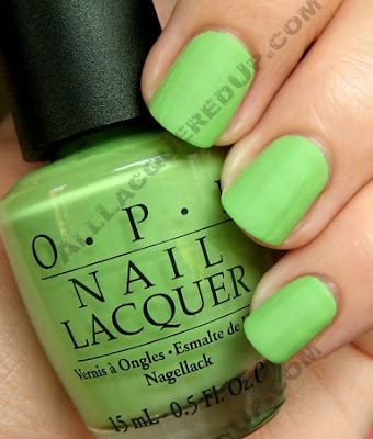 opi matte collection, matte nail polish, opi nail polish, nail polish, nail color, gargantuan green grape