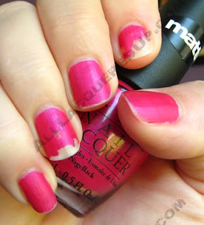 opi la paz itively hot matte wear test wm OPI Matte Collection Review, Swatches & Comparisons
