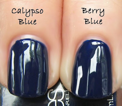 barielle berry blue china glaze calypso blue NOTD   Barielle Berry Blue