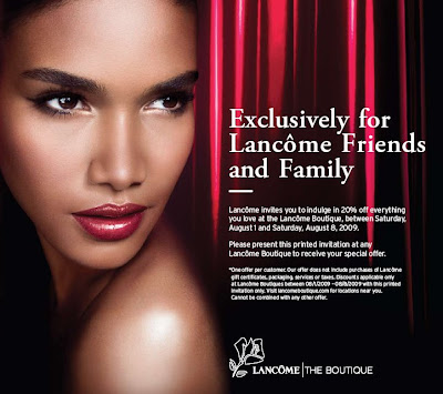 lancome friends family discount Discounts and Freebies from Lancome & Zoya