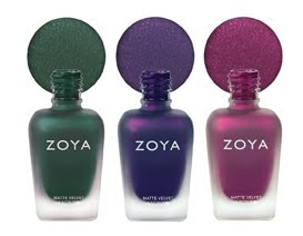 Zoya matte velvet winter trio Coming Soon   Zoya MatteVelvet Winter