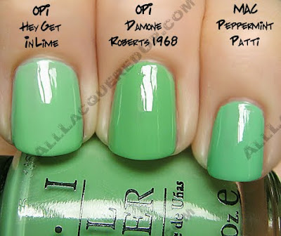 opi damone roberts 1968 hey get in lime mac peppermint patti OPI Damone Roberts 1968   Get This NOW!