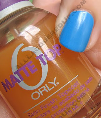 orly matte top coat opi no room blues Matte Top Coats   Lets Compare