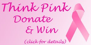 think pink donate win badge click Comments For A Cure 2009 Starts TODAY