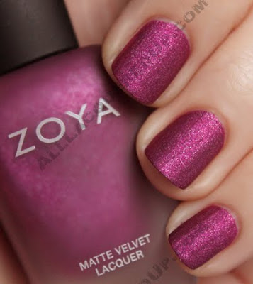 zoya harlow matte velvet nail polish Zoya MatteVelvet Winter Collection Swatches &amp; Review