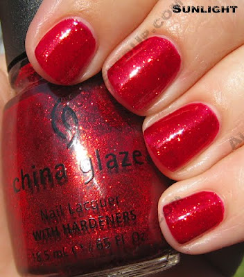 china glaze ruby pumps i love you snow much 2009 sun China Glaze Loves You Snow Much Holiday Swatches & Review
