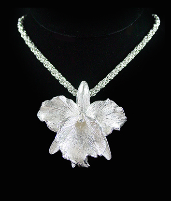 Dawn vertrees raw uncut rough engagement wedding rings hand hand sculpted cattleya orchid necklace aloadofball Choice Image