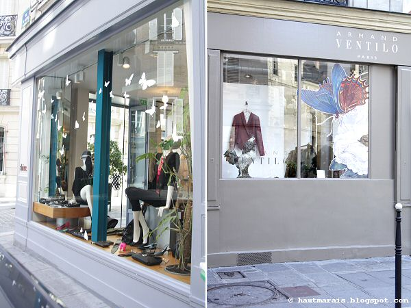 Boutiques Shine et Ventilo rue de Poitou Paris Haut Marais