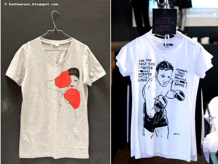 Tshirt t-shirt Doubichou chez Matières à réflexion et Boxe by Artus chez Corinne Cobson